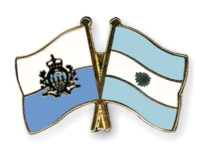 Crossed Flag Pins San-Marino-Argentina