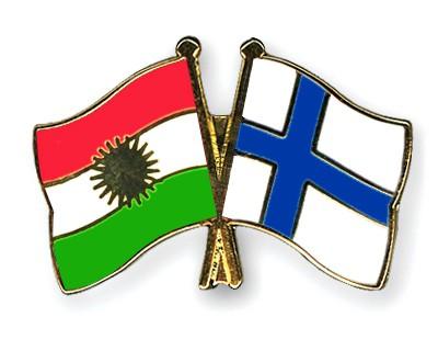 Crossed Flag Pins Kurdistan-Finland
