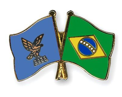 Crossed Flag Pins Friuli-Venezia-Giulia-Brazil