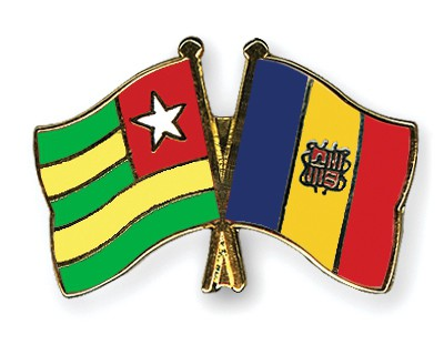 Crossed Flag Pins Togo-Andorra