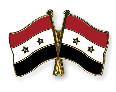 Crossed Flag Pins Syria-Syria