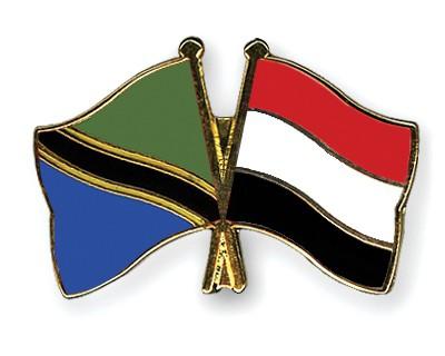 Crossed Flag Pins Tanzania-Yemen