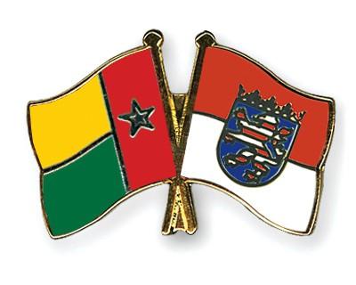 Crossed Flag Pins Guinea-Bissau-Hesse