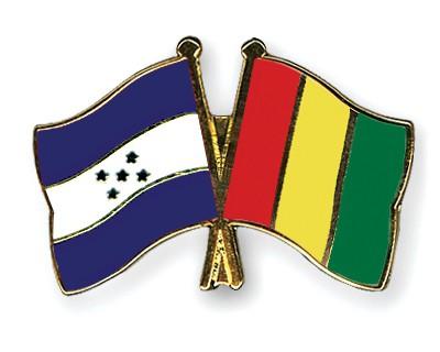 Crossed Flag Pins Honduras-Guinea