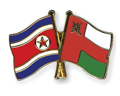 Crossed Flag Pins North-Korea-Oman