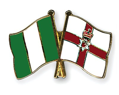 Crossed Flag Pins Nigeria-Northern-Ireland
