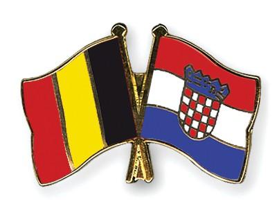 Special Offer Crossed Flag Pins Belgium-Croatia
