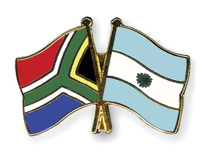 Crossed Flag Pins South-Africa-Argentina
