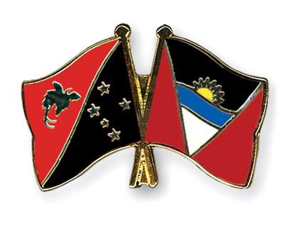Crossed Flag Pins Papua-New-Guinea-Antigua-and-Barbuda