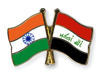 Crossed Flag Pins India-Iraq