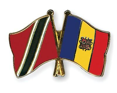 Crossed Flag Pins Trinidad-and-Tobago-Andorra