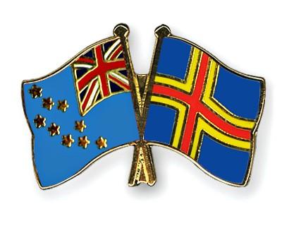 Crossed Flag Pins Tuvalu-Aland