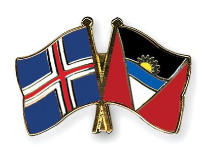 Crossed Flag Pins Iceland-Antigua-and-Barbuda