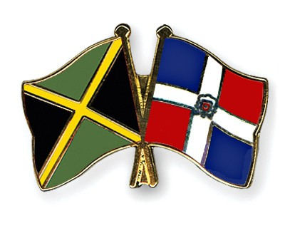 Special Offer Crossed Flag Pins Jamaica-Dominican Republic
