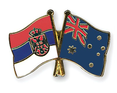 Crossed Flag Pins Serbia-without-Crest-Australia