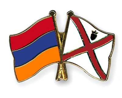 Crossed Flag Pins Armenia-Jersey