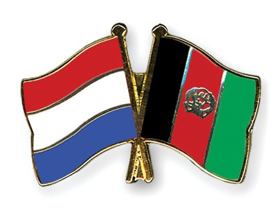 Crossed Flag Pins Netherlands-Afghanistan