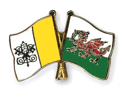 Crossed Flag Pins Vatican-City-Wales