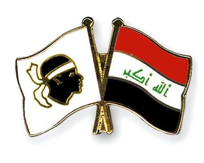 Crossed Flag Pins Corsica-Iraq