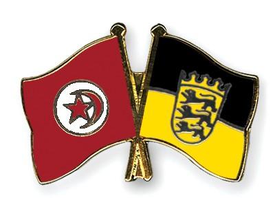 Crossed Flag Pins Tunisia-Baden-Wuerttemberg
