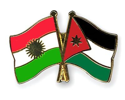 Crossed Flag Pins Kurdistan-Jordan