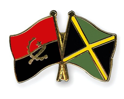 Crossed Flag Pins Angola-Jamaica
