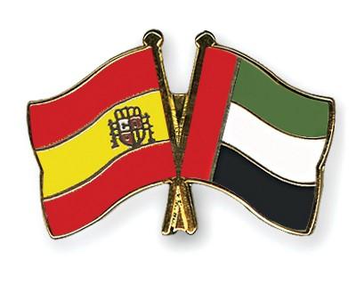 Crossed Flag Pins Spain-United-Arab-Emirates