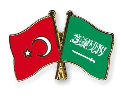 Crossed Flag Pins Turkey-Saudi-Arabia