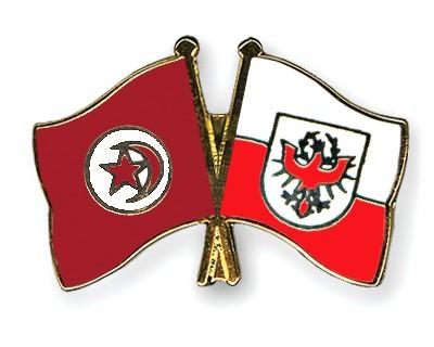 Crossed Flag Pins Tunisia-Tyrol