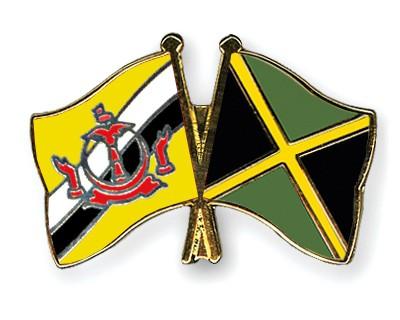 Crossed Flag Pins Brunei-Darussalam-Jamaica