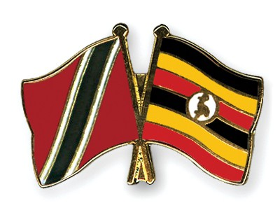 Crossed Flag Pins Trinidad-and-Tobago-Uganda