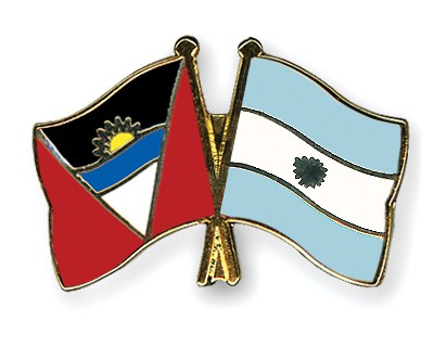 Crossed Flag Pins Antigua-and-Barbuda-Argentina