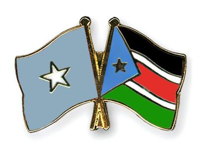 Crossed Flag Pins Somalia-South-Sudan