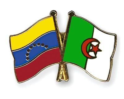 Crossed Flag Pins Venezuela-Algeria