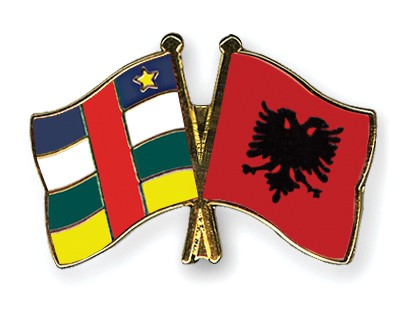 Crossed Flag Pins Central-African-Republic-Albania