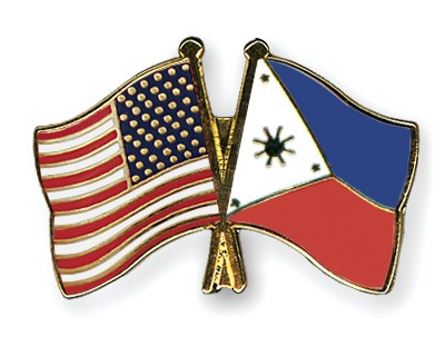 Crossed Flag Pins USA-Philippines