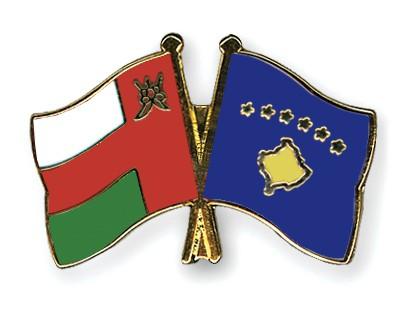 Crossed Flag Pins Oman-Kosovo