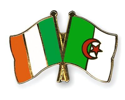 Crossed Flag Pins Ireland-Algeria