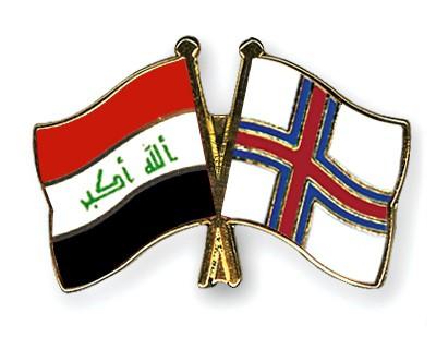 Crossed Flag Pins Iraq-Faeroe-Islands