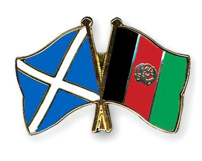 Crossed Flag Pins Scotland-Afghanistan