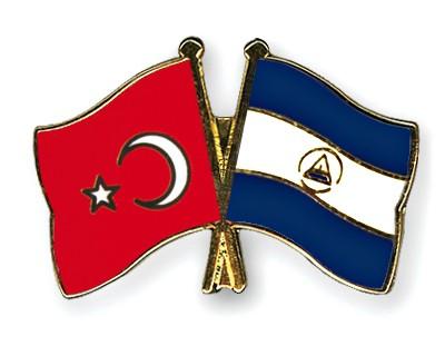 Crossed Flag Pins Turkey-Nicaragua