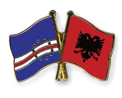 Crossed Flag Pins Cape-Verde-Albania