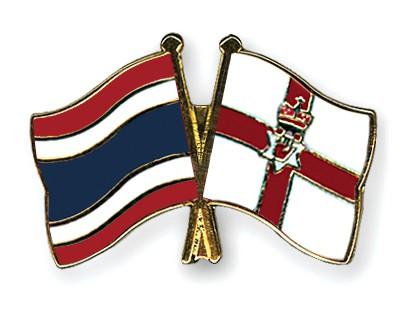Crossed Flag Pins Thailand-Northern-Ireland