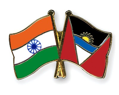 Crossed Flag Pins India-Antigua-and-Barbuda