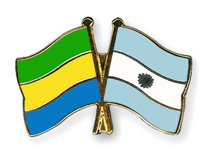 Crossed Flag Pins Gabon-Argentina