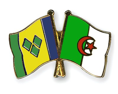 Crossed Flag Pins Saint-Vincent-and-the-Grenadines-Algeria