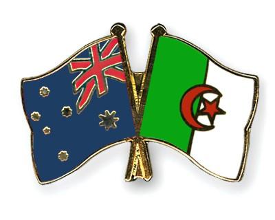 Crossed Flag Pins Australia-Algeria