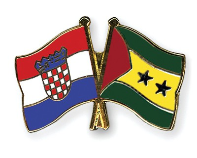Crossed Flag Pins Croatia-Sao-Tome-and-Principe
