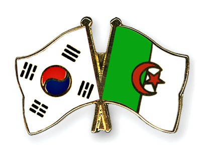 Crossed Flag Pins South-Korea-Algeria