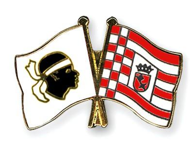 Crossed Flag Pins Corsica-Bremen
